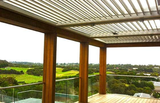 Merbau timber frame over steel subframe - Totally Outdoors