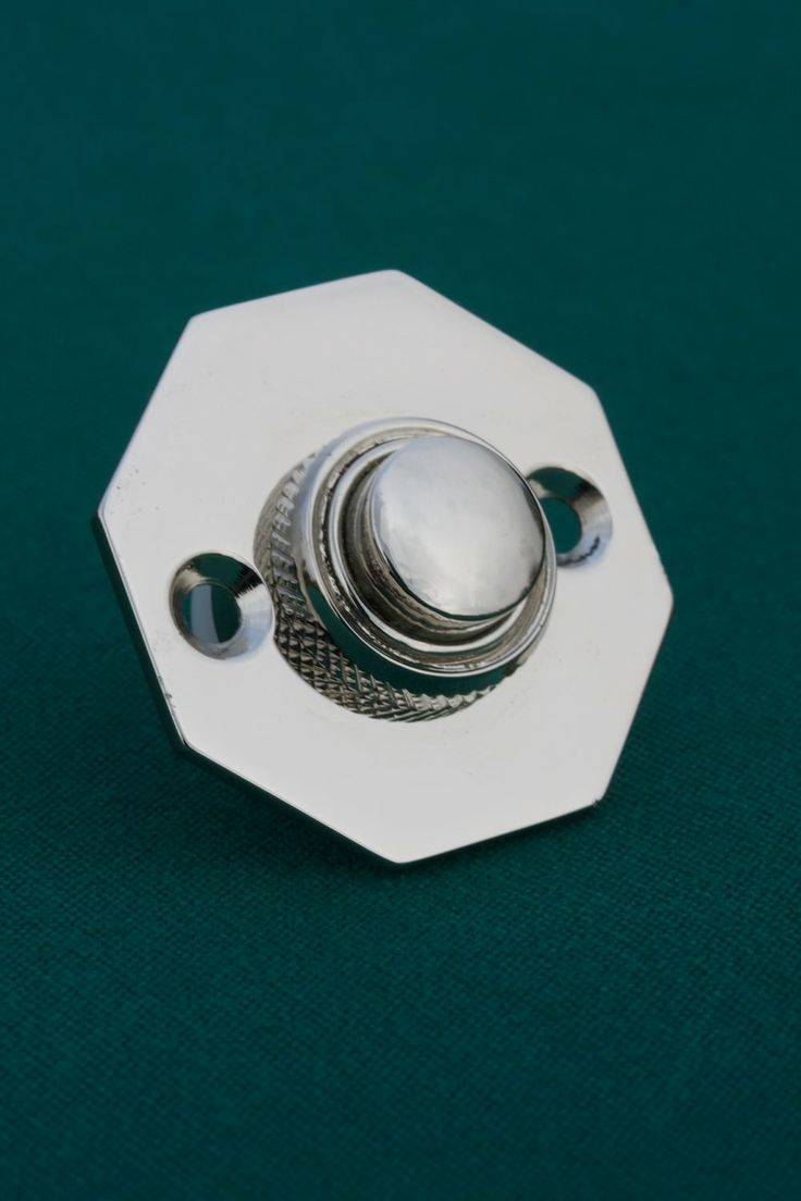 Nickel door bell push octagonal priors http www for Door bell push