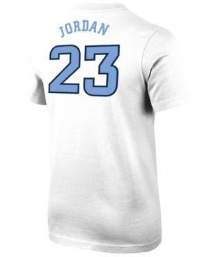 Nike Boys' Michael Jordan North Carolina Tar Heels Future Star Replica T-Shirt - White XL