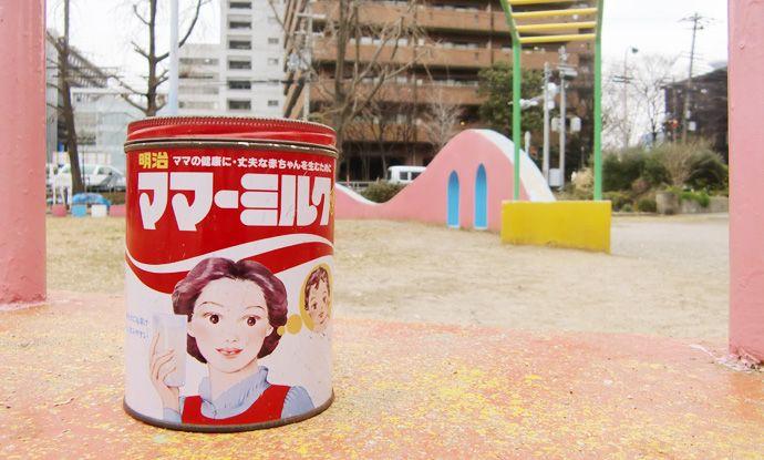 1978 明治製 粉ミルク ママーミルク顆粒の缶