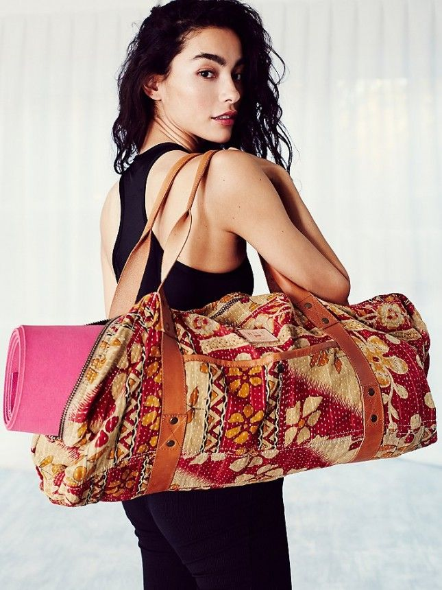 Hit this gym with this quilted yoga bag.