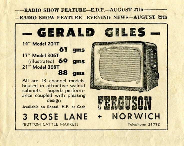 @GilesElectrical print ads from days gone by #NorwichTech