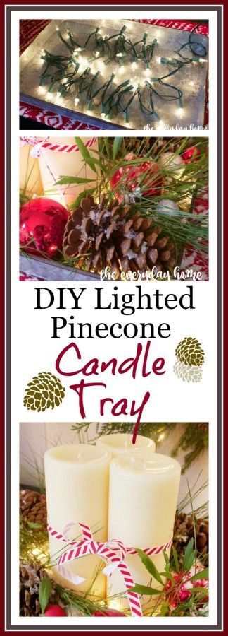 DIY Lighted Candle Tray | The Everyday Home