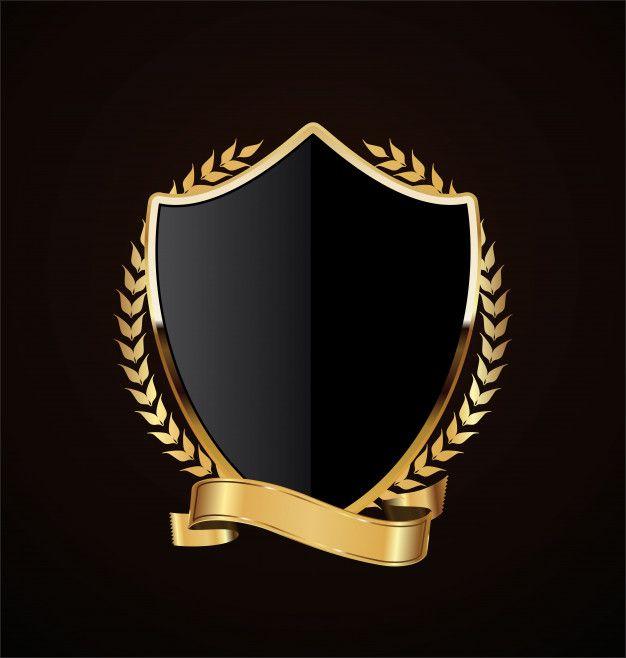 Diseno Retro Escudo Dorado Vector Premium Logo De Luxo Logotipo De Arte Logotipo Criativo
