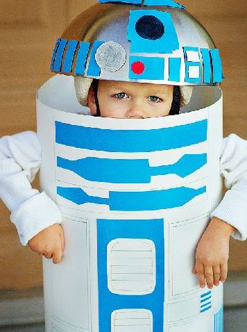 Faire déguisement R2D2 Halloween facile