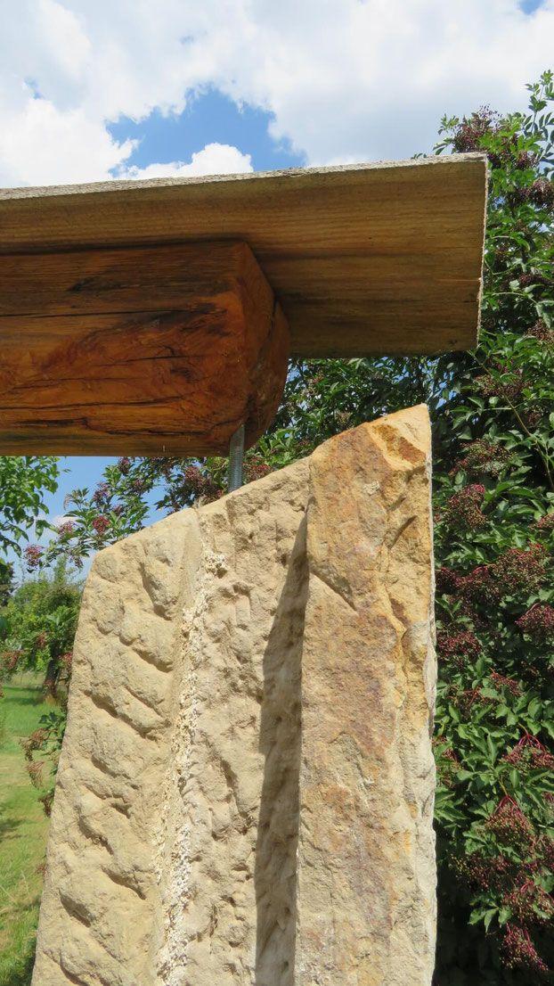 Torbogen Romantisch Aus Altem Holz Und Sandstein Garten Torbogen Sitzplatz
