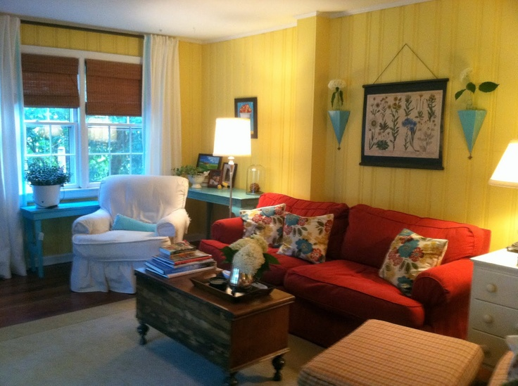 The Old Post Road: Bringing Turquoise Into a Red Room
