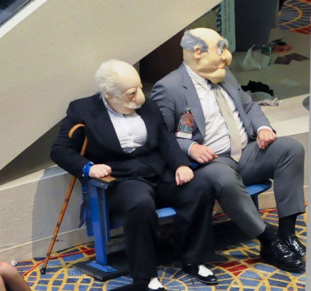 Statler and Waldorf | 24 Of The Best Cosplays Ever x'D