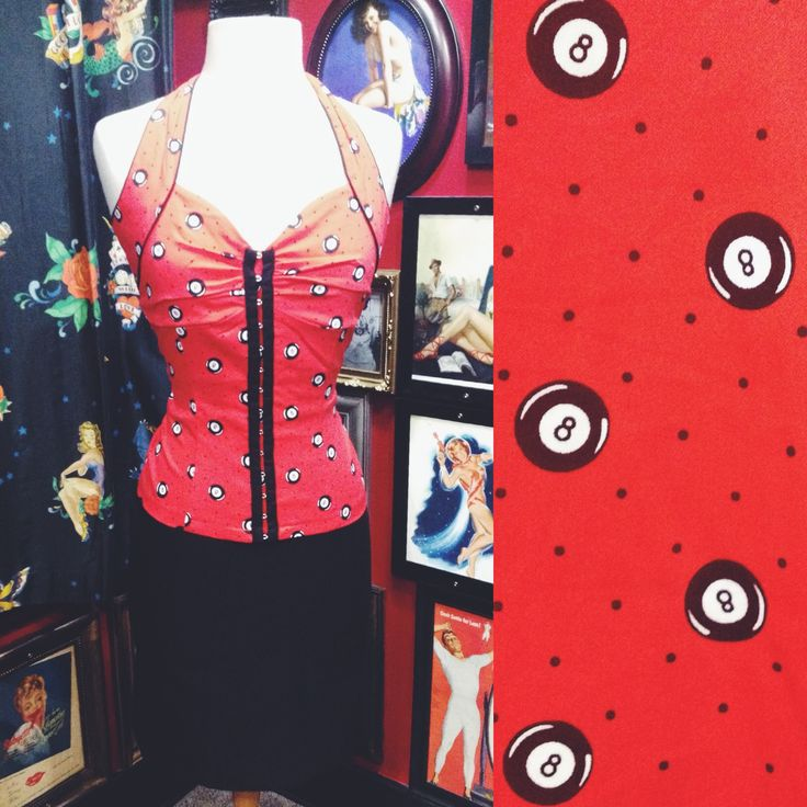 This halter top is perfect for a classic rockabilly outfit! #blamebetty #rockabilly #outfit