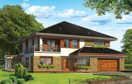 Projekt Wiola to dom jednorodzinny dla pięcio-sześcioosobowej, dużej rodziny. Piętrowy przykryty czterospadowym łagodnym dachem z dachówki ceramicznej. Wygląd zewnętrzny domu utrzymany jest w stylu podmiejskiej luksusowej willi - nowoczesnej, ale jednocześnie z elementami tradycji.