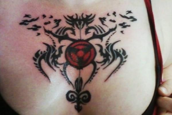 sharingan tie | New Sharingan tattoo on my chest!!! in My ...