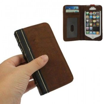 Fashion Book Genuine Leather Case for iPhone 5