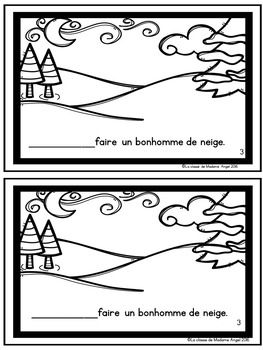 C'est L'hiver! A Winter Emergent Reader in French with L