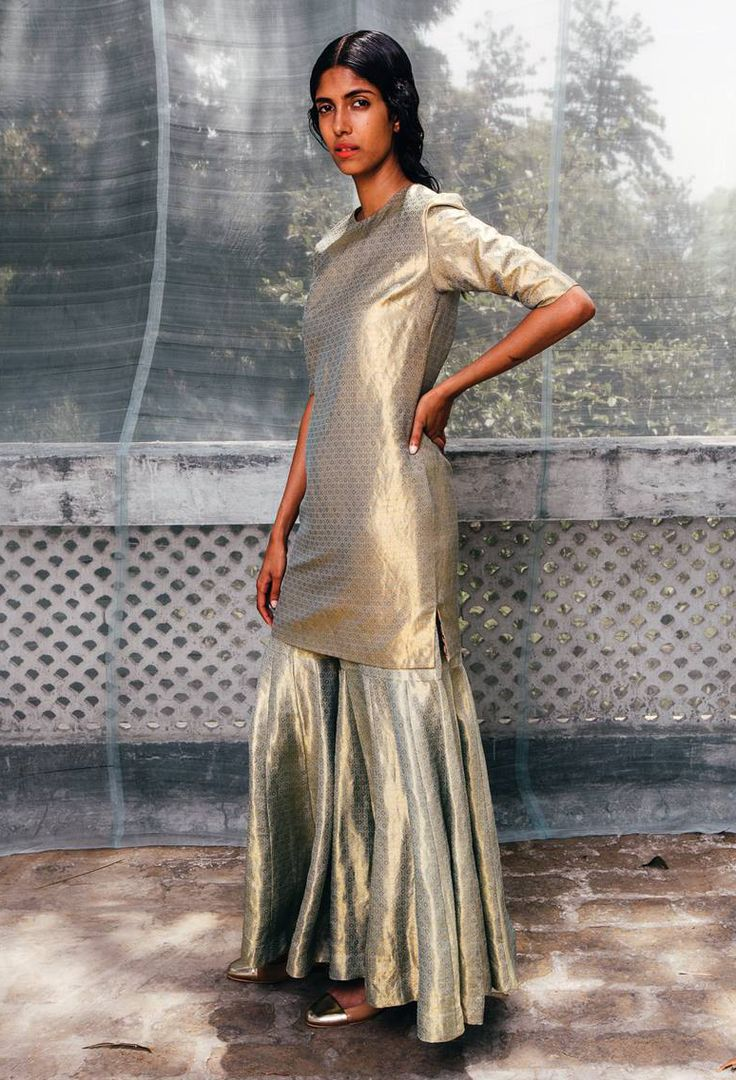 Make like a diva: go gold from head to toe. Sanjay Garg's line of electric Varanasi brocades and silks will put the spark back into dressing up