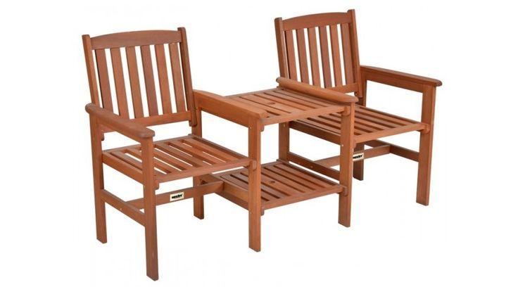 Élvezzük ki szabadidőnket a télikertben vagy a teraszon! :D  Teebench favázas ülőgarnitúra  Két szék és egy asztal praktikus kombinációja kemény MERATI fából. Használható kertben fedett helyen, vagy belső térben. Megfelelő kezeléssel kültéren is használható. A fa természetes anyag. Az ábrázolástól eltérő szín a fa természetes tulajdonságaiból adódik. Méretek: 160cm (h) x 63cm (sz) x 89cm (m) / Terhelhetőség: 150kg/oldalanként.