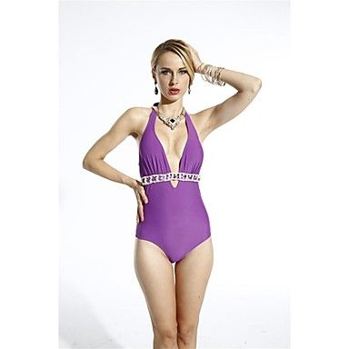 HOGOO Women's Sexy Purple Twist Connection Bathing Suit – USD $ 12.99