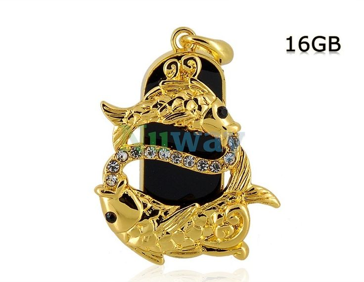 16G Gorgeous Pisces Design USB Flash Drive (Golden) | Nuway Shopping