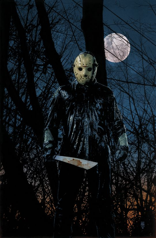 Jason Voorhees...starred in many of my nightmares over the years, even as an adult.  thankfully I don't have them anymore.  growing up with woods around your house makes this character scary.