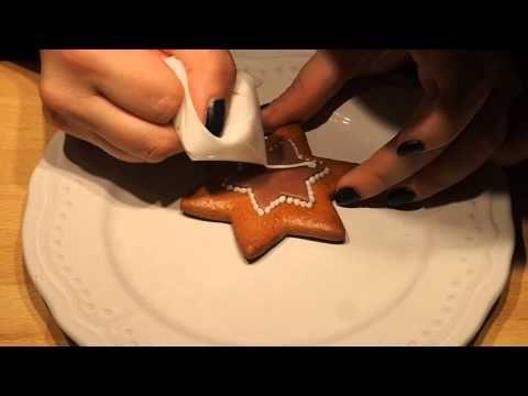Medovníčky - príprava polevy - zdobenie.. - YouTube