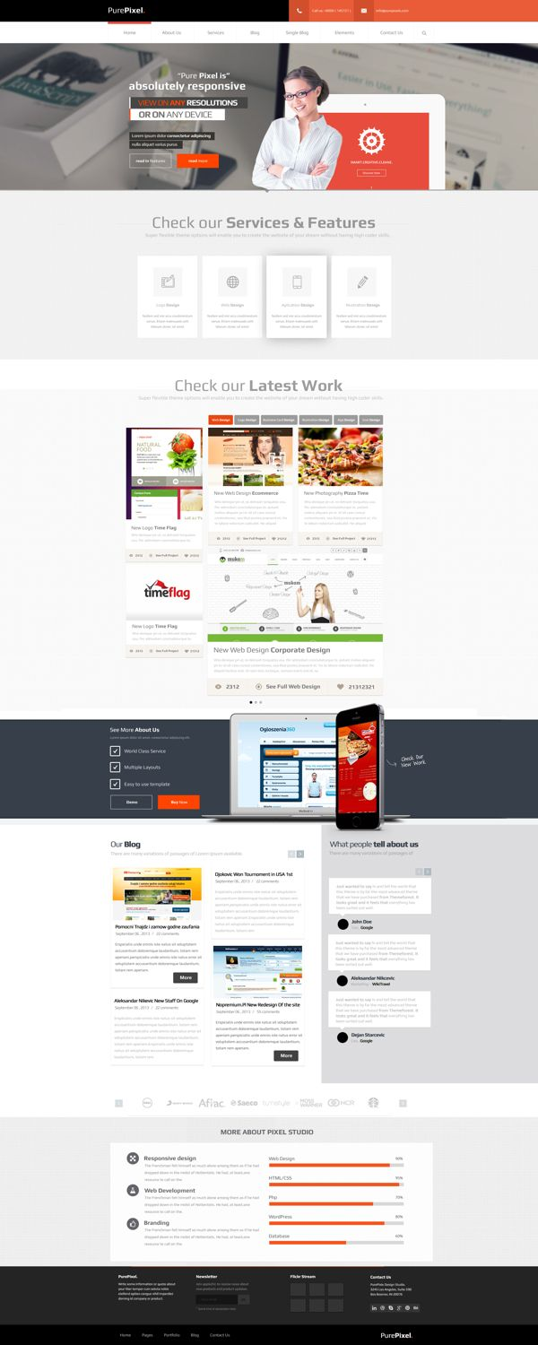 Corporate Portfolio Web Design For Sale by Aleksandar Nikcevic, via Behance