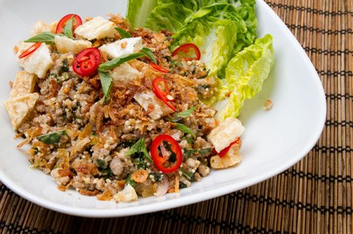 Pork Larb (Thai Salad with Pork, Herbs, Chili, and Toasted Rice Powde