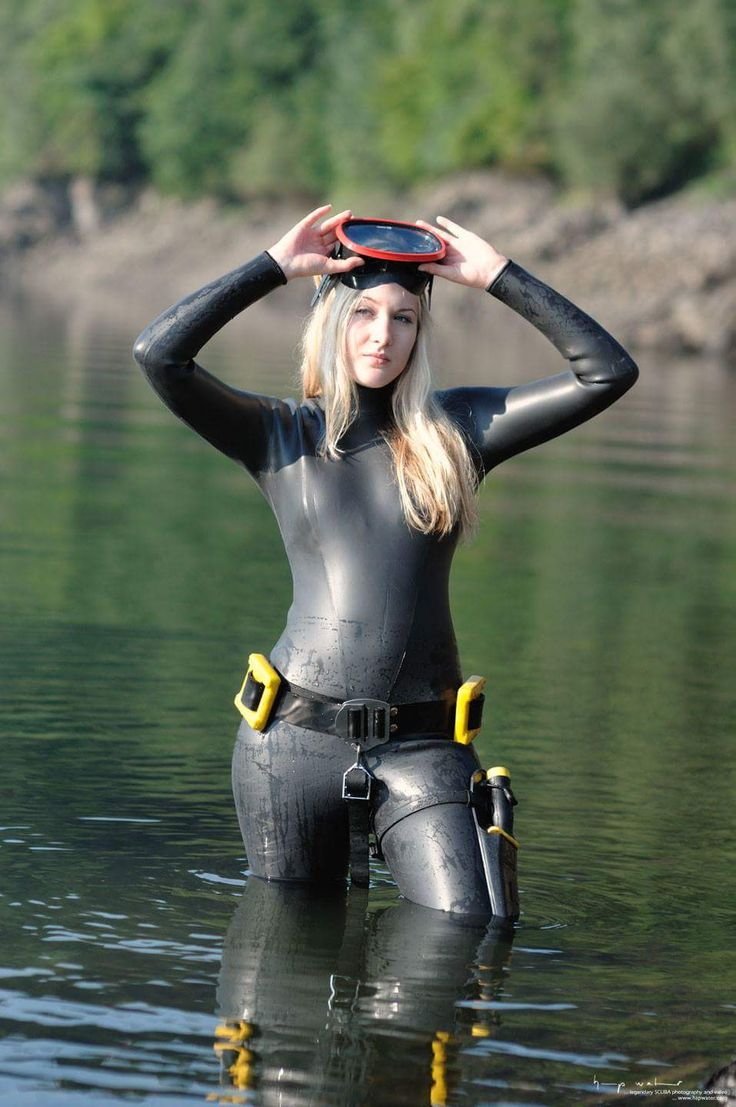 Vintage yellow rubber wetsuits