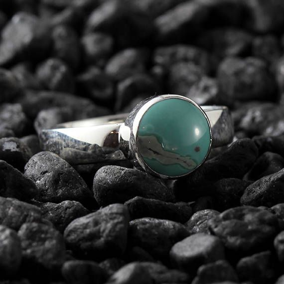 Excited to share the latest addition to my #etsy shop: Turquoise Ring Silver For Women Sterling Blue Green Engagement Rings http://etsy.me/2ndYWu5 #jewelry #ring #silver #round #turquoise #green #women #artdeco #turquoisering
