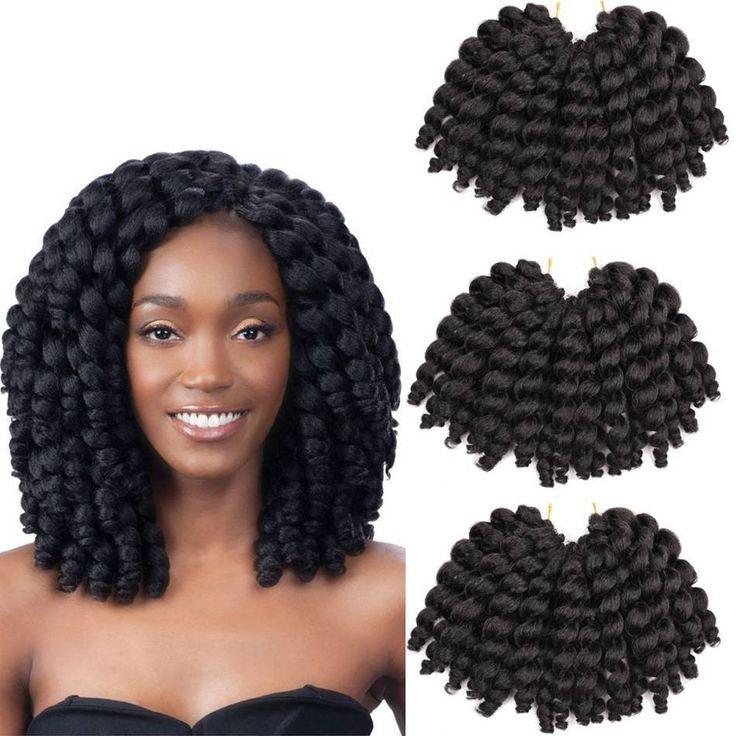 8'' Jumpy Wand Curl Synthetic Twist Braids Crochet Hair Extensions Bounce Braid #Dsoar #ChrochetBraid