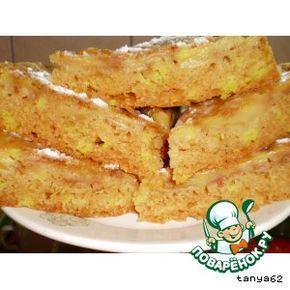 Постный бисквитный яблочный пирог - кулинарный рецепт