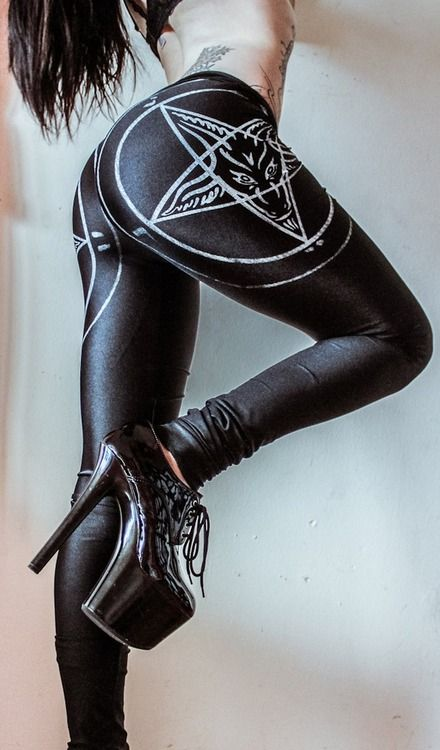 queenofhorrror: Pentagram Leggings. Toxic Vision Clothing ...