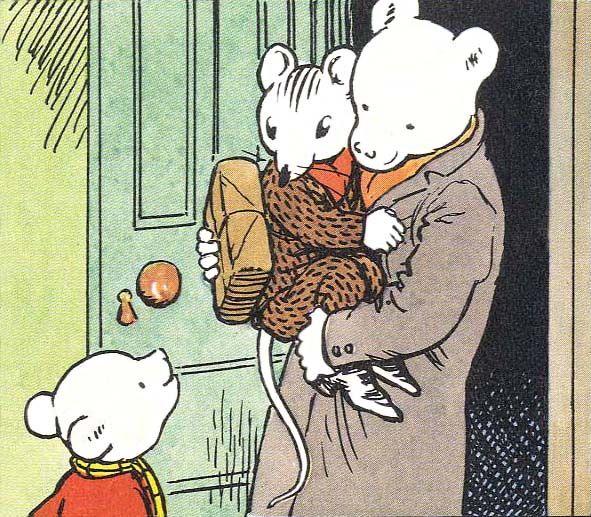 Rupert Bear - Mr Bear takes sleepy Willy Mouse home