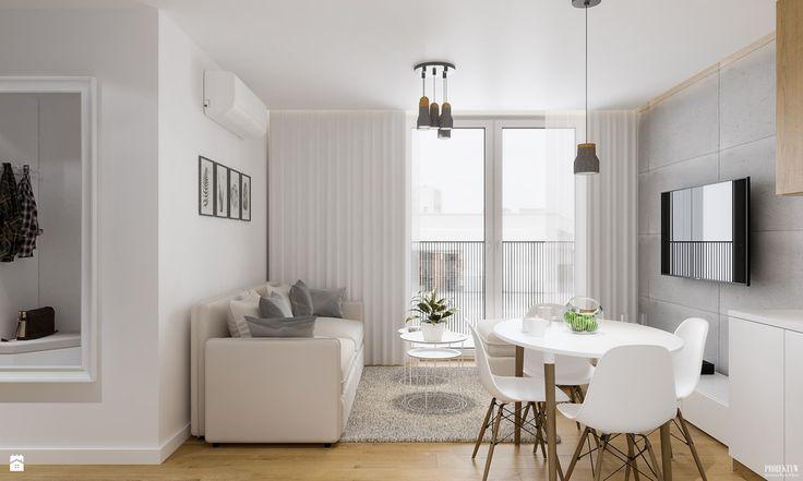 Salon styl Skandynawski - zdjęcie od PRØJEKTYW | Architektura Wnętrz & Design - Salon - Styl Skandynawski - PRØJEKTYW | Architektura Wnętrz & Design