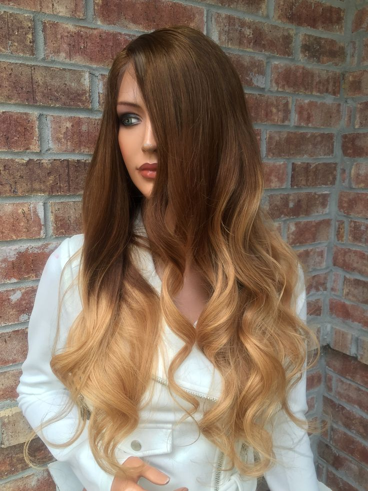 Welcome to Bella Wig Salon The item you've selected features: Ombre' Honey blond layered hair •24 inches •Transparent lace/ scalp color •Full lace •Adjustable with combs •No glue needed Super easy to