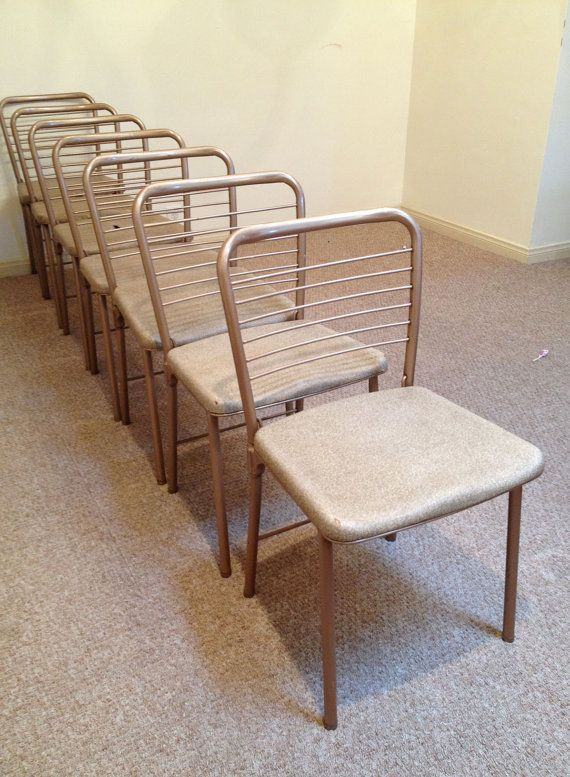 Set Of 7 Vintage Hamilton Cosco Folding Chairs Gatefold
