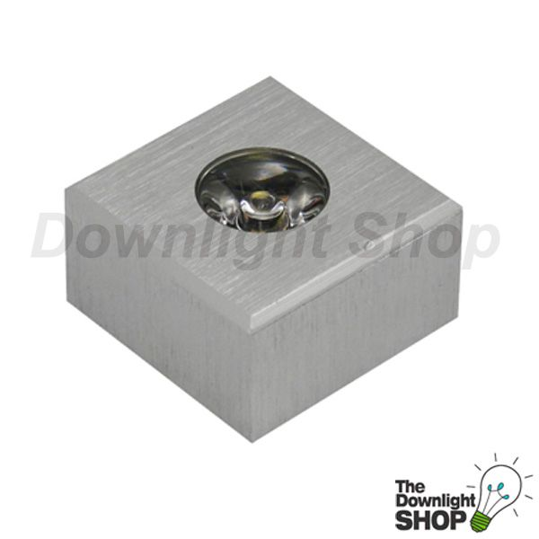 Power White Puk LED downlight Brushed aluminium square Surface mounting or recessed mounting -  $71.99 SAVE: 17% OFF