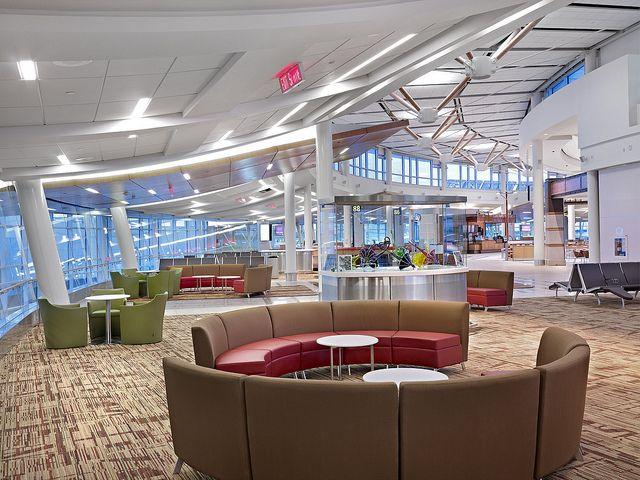 Seating - Winnipeg airport's Queen's Court, via Flickr.