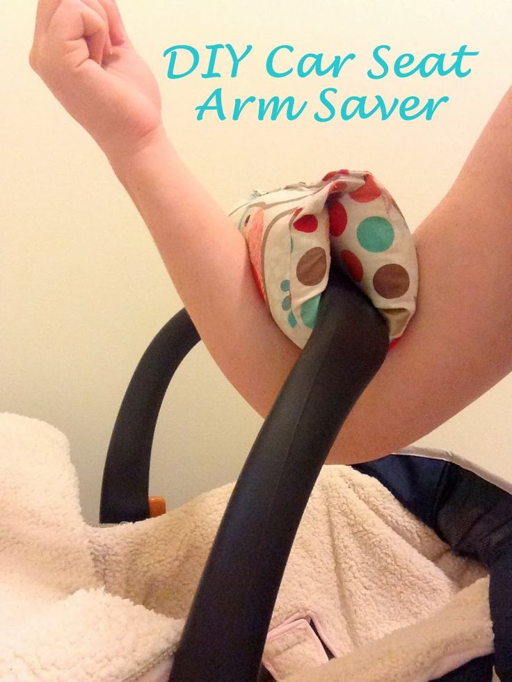 DIY Car Seat Arm Saver I have seen these, but I have only held the carseat like this once with both kids.
