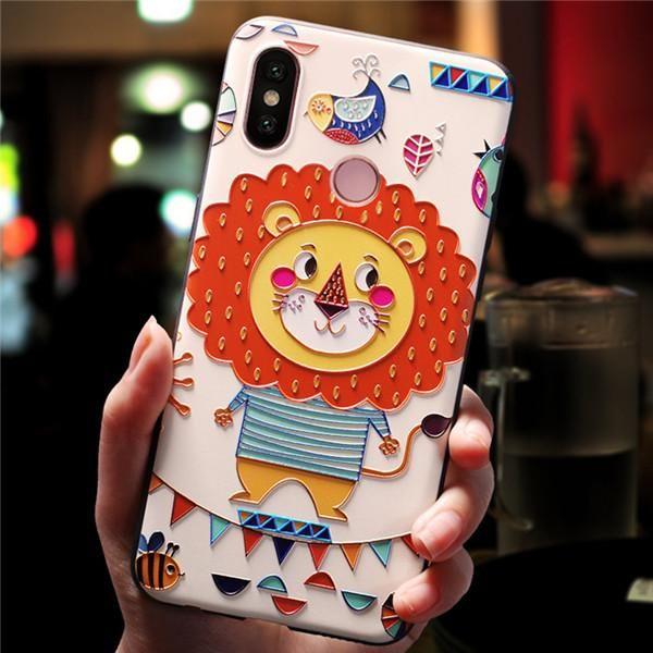 3d Embossed Painted Phone Case For Xiaomi Mi 8 Mi6 Mi5x Mi5 Soft Tpu Phone Cover For Xiaomi Redmi 5 Plus Funda Para Teléfono Móvil Fundas Para Teléfono Fundas