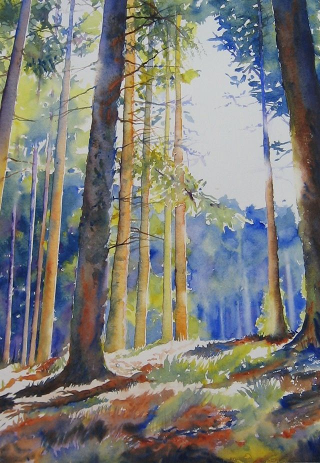 "Toward the light ( by Cristina Dalla Valentina's Art) Watercolor on paper - 18,9"" x 13,4"" Acquerello su carta Arches - 48 x 34 cm"