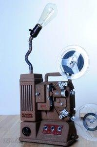 Vintage lampa Promítačka Meopta s žárovkou Edison