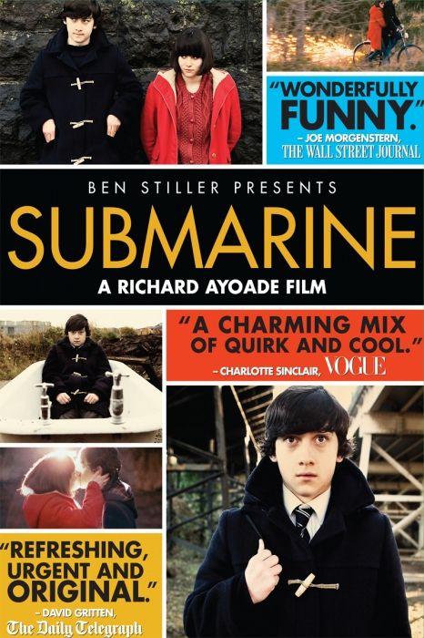 Submarine Movie Poster - Paddy Considine, Craig Roberts, Sally Hawkins  #Submarine, #MoviePoster, #Comedy, #RichardAyoade, #CraigRoberts, #PaddyConsidine, #SallyHawkins