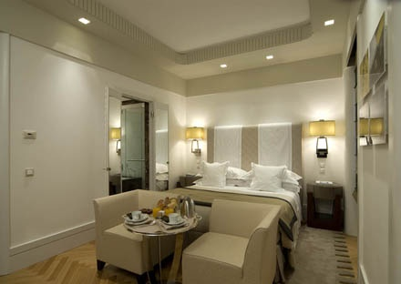 PORTFOLIO STUDIO SIMONETTI: room@Bentley Hotel, Genova, architectural project of interiors (now Melià Genoa) #hotelroom #hotelprocjet #meliagenova