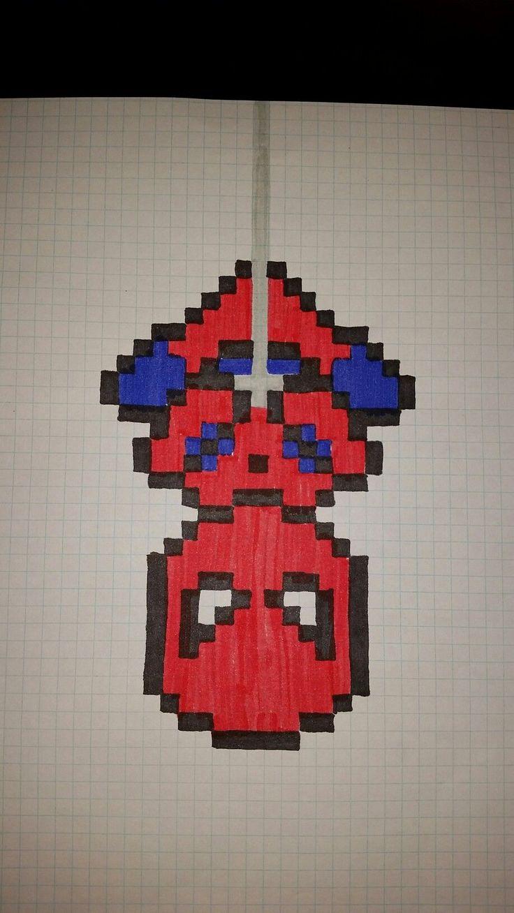spiderman pixel art pixel spiderman  bilder selber