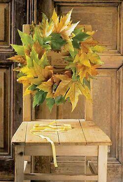 Autumn leaves,chair