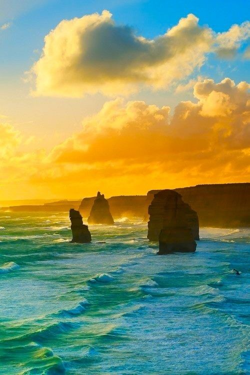 Twelve Apostles, Victoria, Australia  #travel #travelphotography #travelinspiration #australia  Getting us to make your #reservations is the #easy part. Call GIT 800-444-3078 for all of your #travel needs