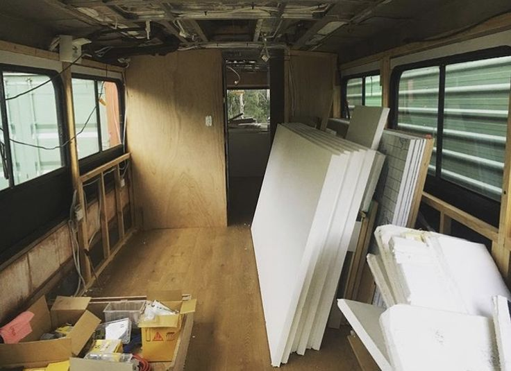 Walls and insulation for bus