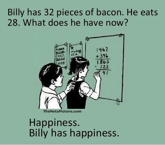 Bacon nutrition facts funny pictures memes