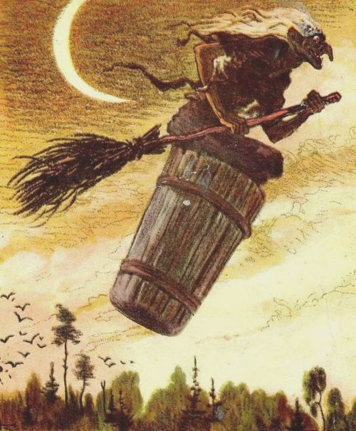 The Crone (aka the Witch) Baba Yaga - the person of the russian fairy tales.