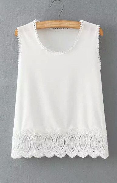 Boho Lace Tank Top Blouse – Trendy Road