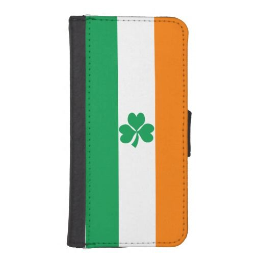 Ireland flag for St Paddy's day iPhone wallet